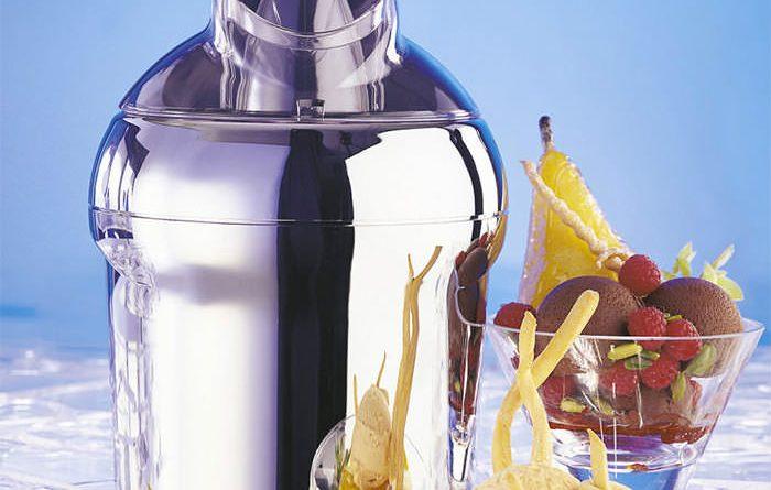 Krups gvs241 Venice machine à glace Chrome//Blanc 1,6 L grande capacité glace